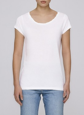 Blouse W Tencel/Organic Cotton Twisted Scoop Neck