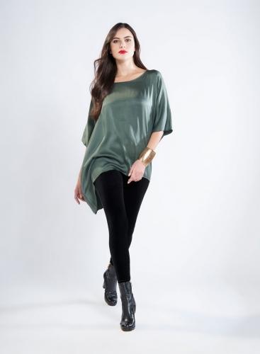 Blouse Tetragoni Long 100% silk