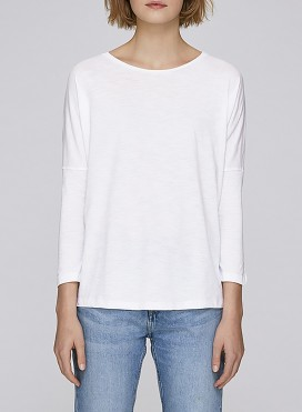 Blouse W Drop Shoulder Long Sleeve Organic