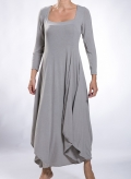 Dress Bottle long sleeve wool/viscose