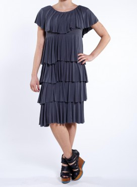 "Dress ""5 VOLAN"" derti"