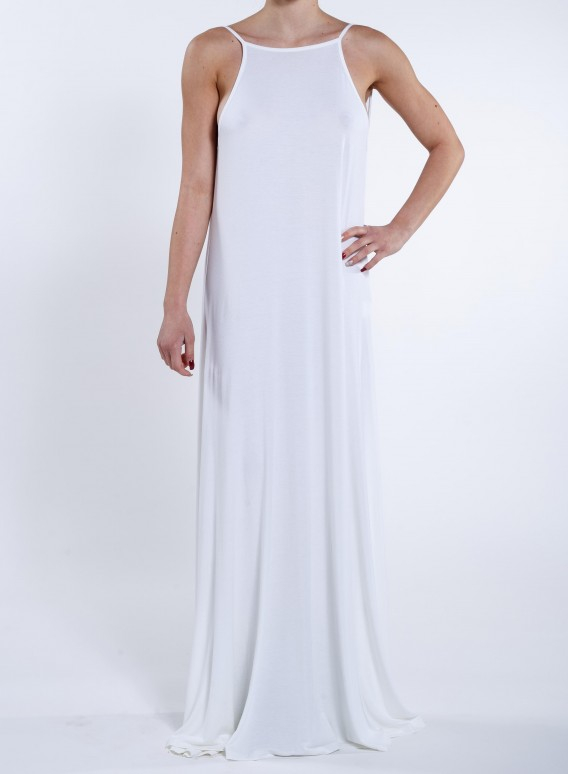 "Φορεμα ""Backless/ Drape"" Maxi ziro"