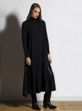 Dress Asymmetric maxi 3/4 sleeve double