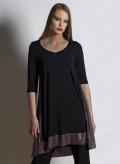 Φόρεμα Asymmetric midi 3/4 μανίκια double