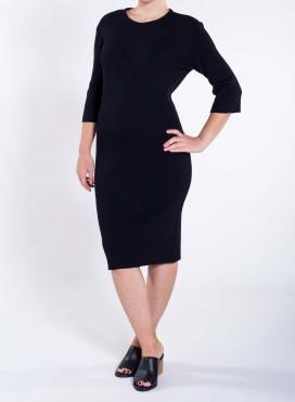 Dress Boatneck 3/4 Sleeve Knit Viscoze