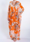 Kaftan Trigono Orange Print