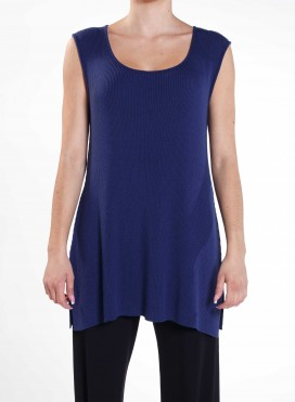 Top Classic Sleeveless Knitted Viscoze