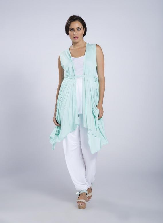 Jacket Nepal Sleeveless Pockets Short 100% Viscose