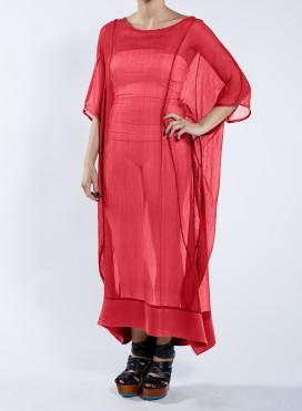 Dress Tetragono Chiffon 100% silk