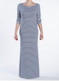 Dress Boatneck 3/4 Sleeves Maxi Mariniere