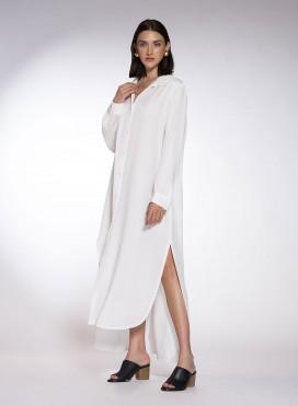 Φόρεμα Semizie Summer Mακρύ Mανίκι Tencel