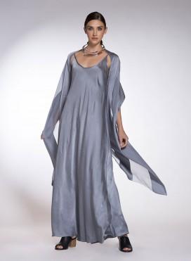 Εσάρπα Ριγέ Satin/Chiffon 100% Silk