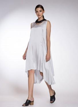 Φόρεμα Μύτες χωρίς μανίκι midi Lexis
