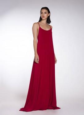 Φορεμα Godet Backless Sleeveless Maxi elastic