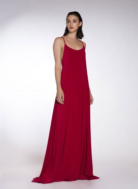 Dress Godet Backless Sleeveless Maxi elastic