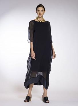 Φόρεμα Τετράγωνο Chiffon 100% silk