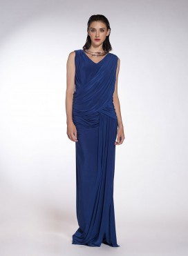 Dress V Drape Maxi T924