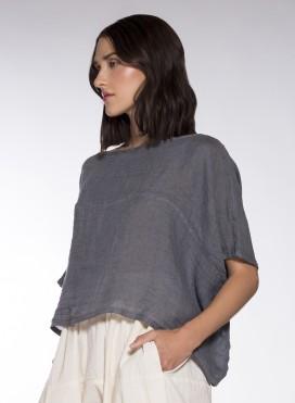 Blouse Hyper Short 100% Linen Gauze