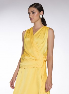 Top Croise Drape Sleeveless Jasmine