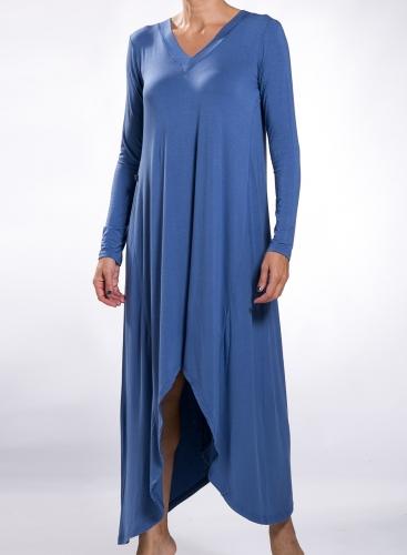Dress V Shark Bite Fit long sleeve elastic