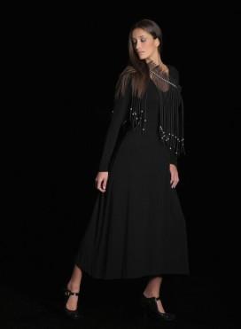 Dress Simple Maxi Long Sleeves Elastic
