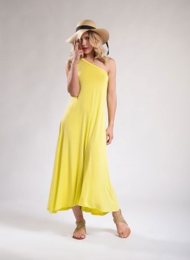 Φόρεμα 1 Ώμος Maxi Ελαστικό