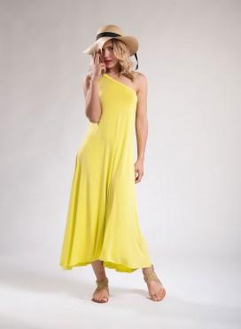 Dress 1 Shoulder Μaxi Elastic