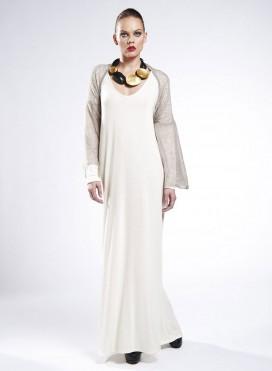 Dress Fit Maxi Longsleeves Wool Viscose