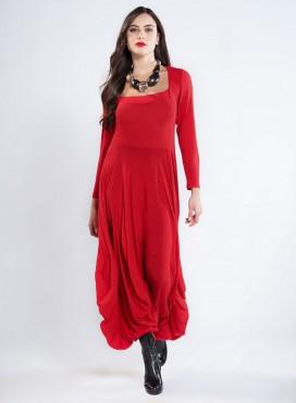 Φορεμα Bottle μακρύ μανίκι wool/viscose