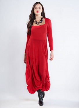 Dress Bottle Long Sleeve Wool Viscose