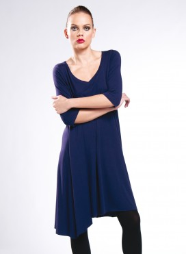 Φόρεμα Asymmetric 3/4 sleeves elastic