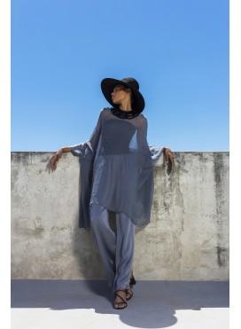Blouse Square chiffon 100% silk