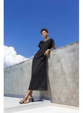Dress Gender Shortsleeve Maxi EIF/KNIT