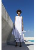 Dress Diplo Open Slit Sleeveless C-C 100% Cotton