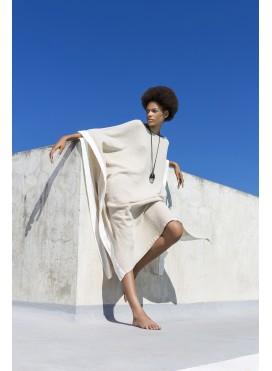 Dress Poncho Trim Nature
