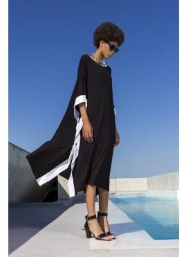 Φόρεμα Poncho Trim ελαστικό