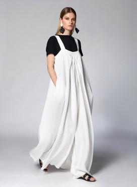 Dress Overall Pleat Tencel