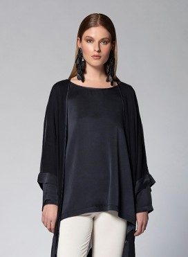 Blouse Unisex Long Sleeve Silk