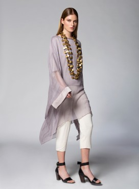 Μπλούζα Square Long Chiffon Silk