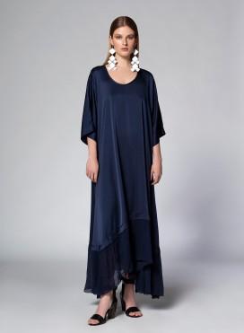 Φόρεμα Μύτες LS Satin/Chiffon Silk