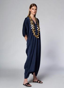 Καφτάνι Trigono satin 100% Silk