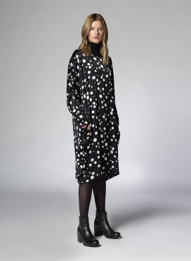 Dress Crew Neck Tetragono Tibet Pois