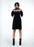 Φόρεμα Στράπλες Μίνι Βελουτέ