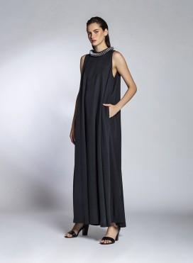 Φόρεμα Pray Χωρίς Μανίκια Maxi Tencel