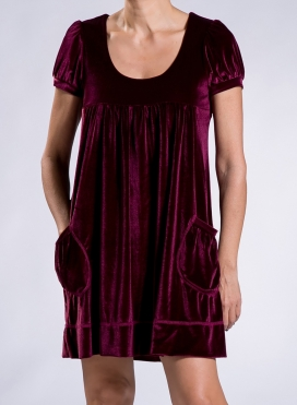 Dress Empire Pocket velvet
