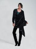 Jacket Stole Uneven Velvet