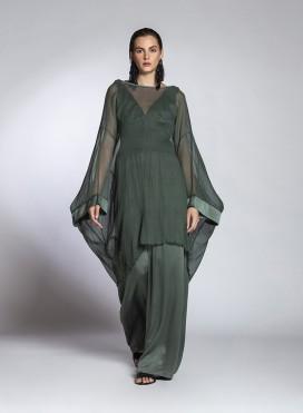 Μπλούζα Square Μακριά Chiffon Silk