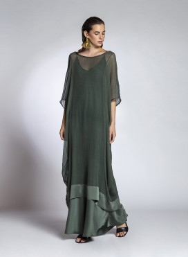 Dress Tetragono Chiffon Silk