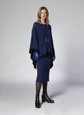 Skirt Simple Strapless Midi Knit Viscose