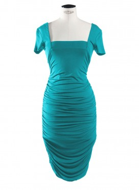 Dress Square/Drape Short Sleeves elastic